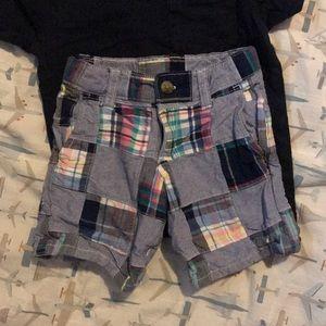 Janie and Jack madras shorts